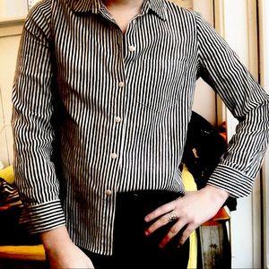 Madewell Shrunken Ex Boyfriend Button down XXS